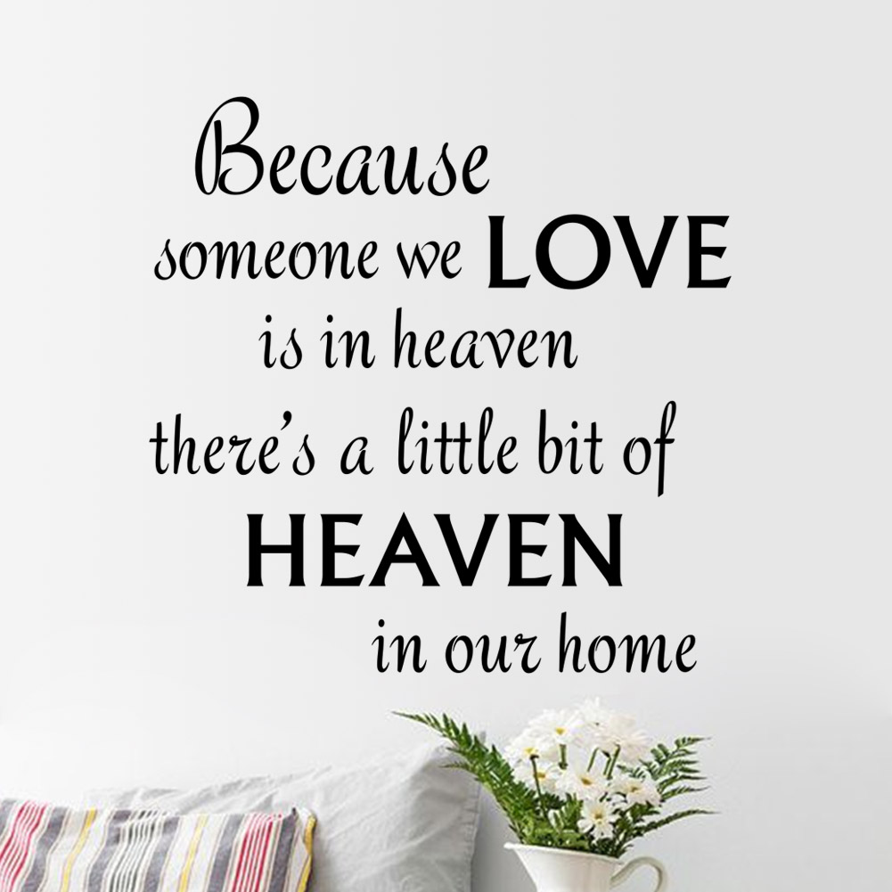 Love Wall Quotes Heaven Wall Quote Sticker  Bedroom  Home Decor  Lounge  Wall Decal