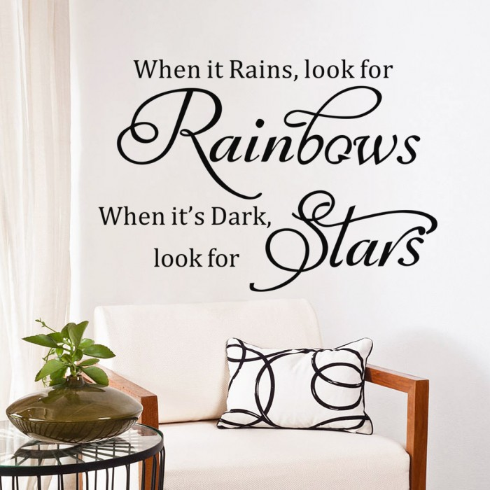 When it Rains look for Rainbow wall art decals