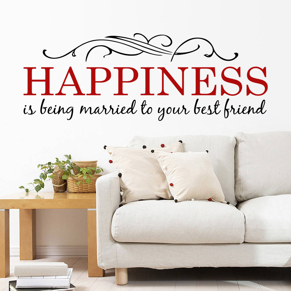 Merveilleux Happiness Is Being Married To Your Best Friend Wall Quote Decal