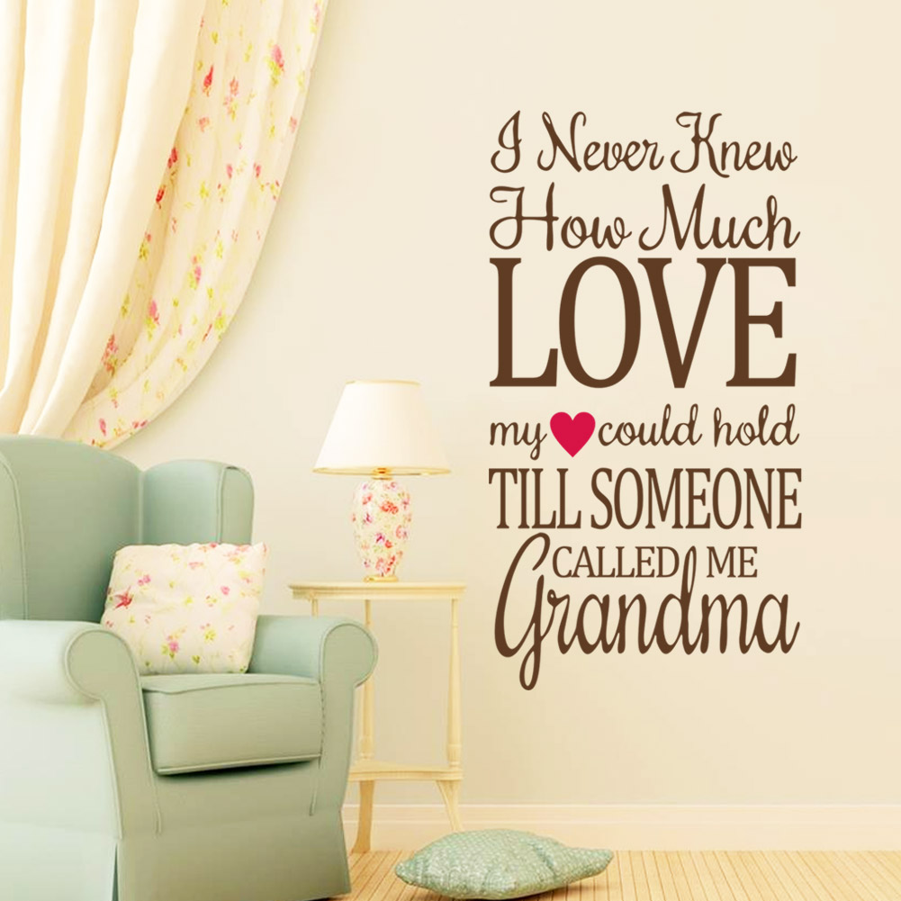 Love Quote Wall Decals I Never Knew How Much Love Quote Wall Decals  Quotes  Wall Stickers