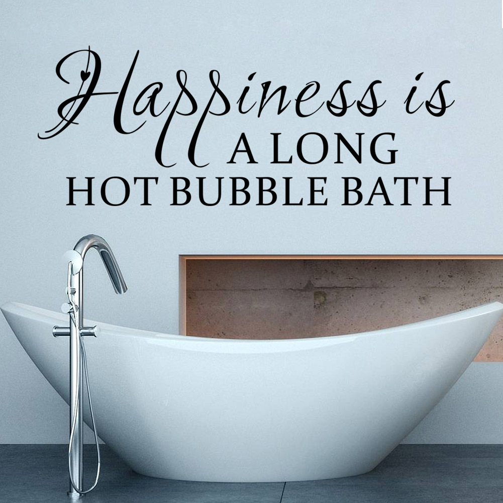 Bathroom wall art stickers - Wall Sayings For Bathrooms Bathroom Wall Art Decal Mural Home Decor Bathroom Home Decor