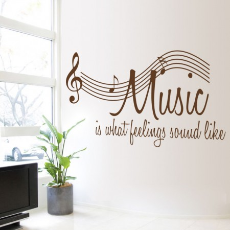 Music is what feelings sound like Wall Quote Decals