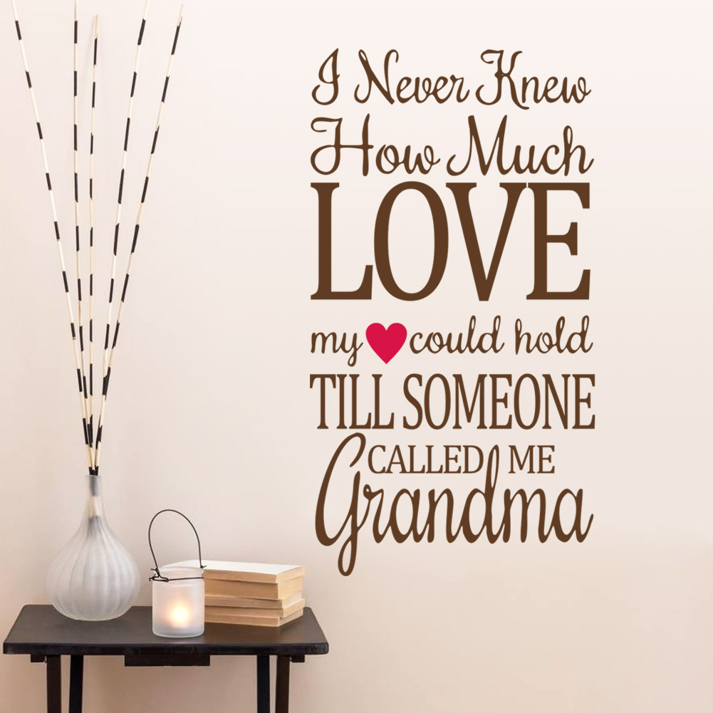 Genial I Never Knew How Much Love Quote Wall Decals