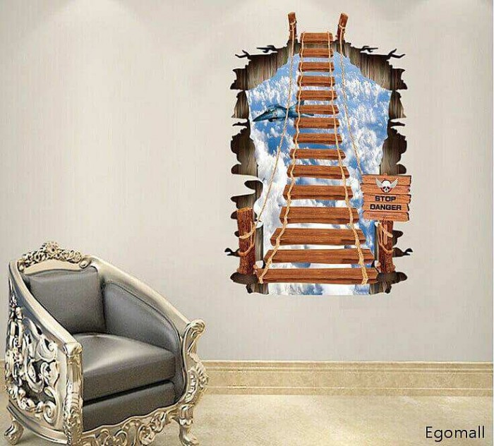 Stairs Wall Decal Sticker Art Bridge