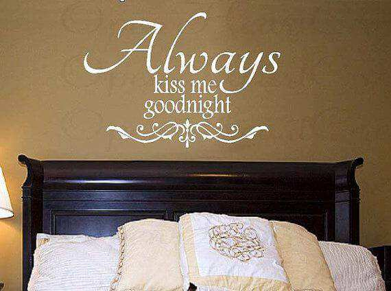 ... Wall Quotes/Always Kiss Me Goodnight Quote Wall Decals. Kiss · Kiss Part 76