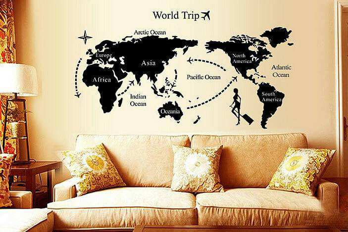 ... Map Wall Stickers Decals. Travel · Travel. Travel Part 67