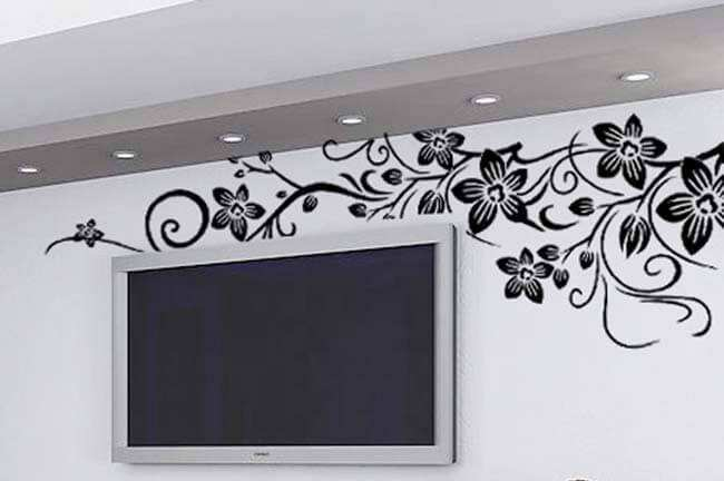 ... Lounge/Black Flower Wall Decal Stickers. Flower Part 11