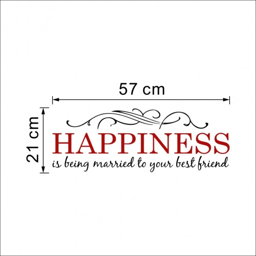 Happiness is being married to your best friend wall quote decal