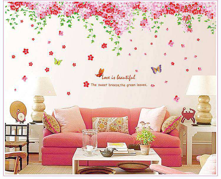 cherry blossom flowers tree wall decal | bedroom | wall stickers