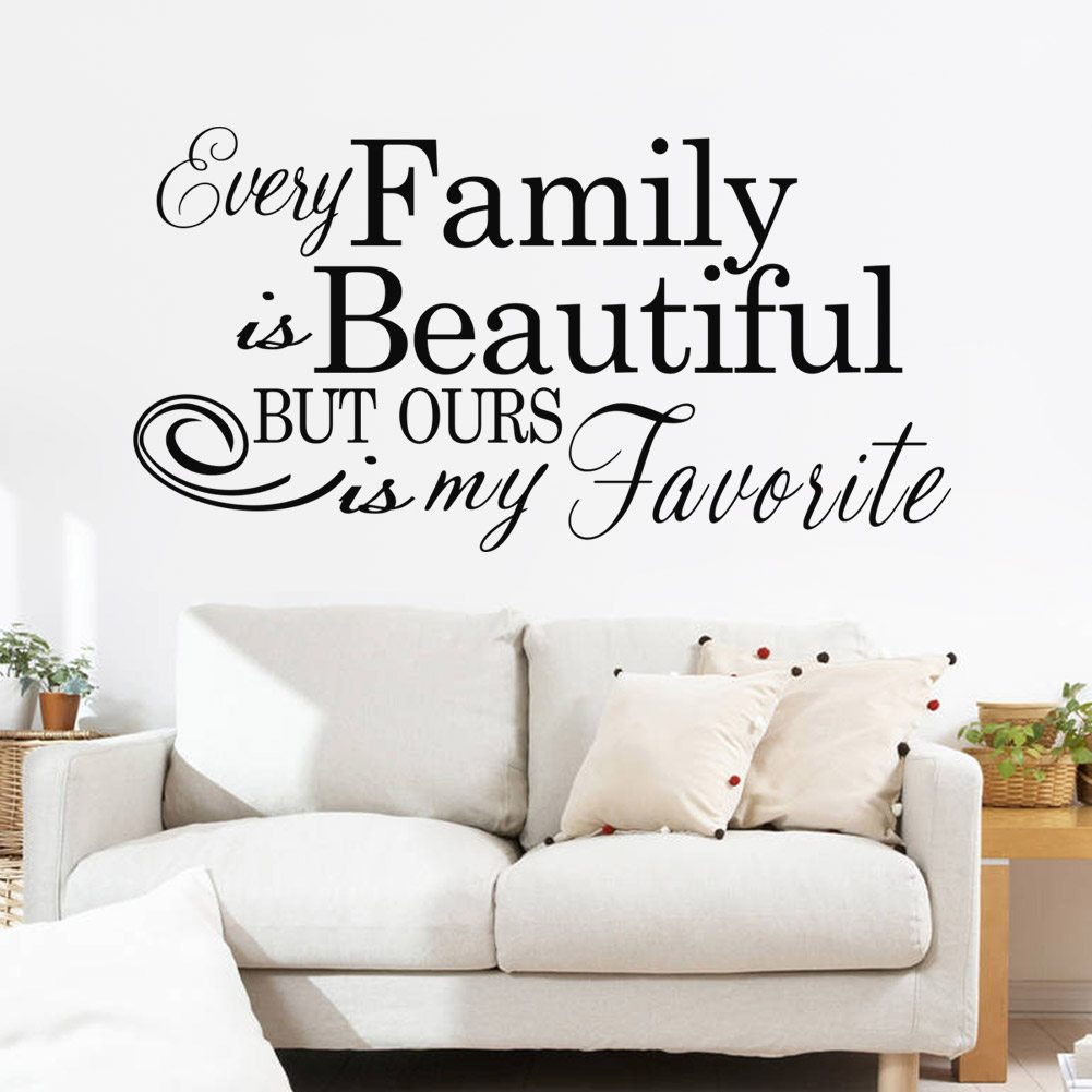 Etonnant ... Beautiful Wall Quote Decal Stickers. Family