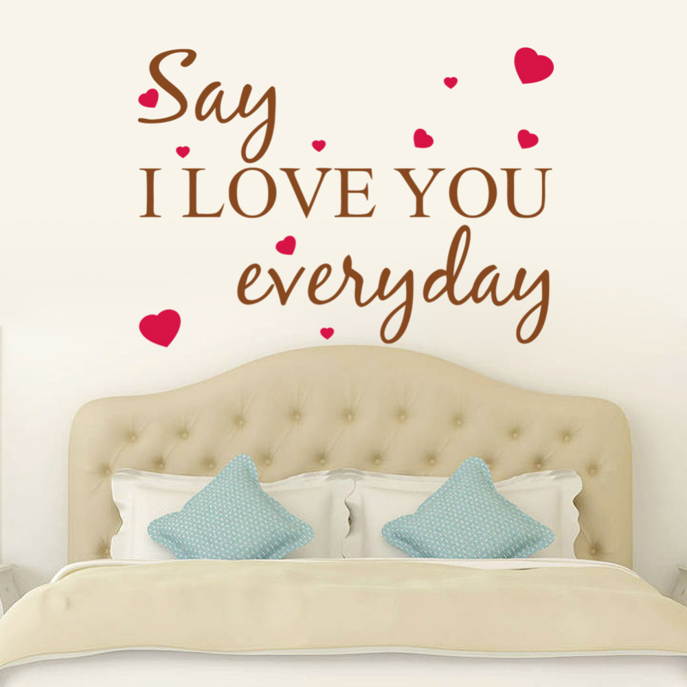 Say I Love You Everyday Wall Quotes Art Decals Quotes Wall Stickers