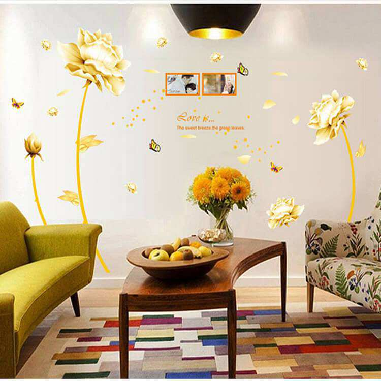 Tulip Flower Wall Art Decal Sticker Decor Bedroom Lounge