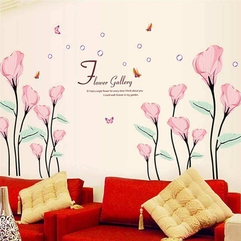 flowers wall decal sticke | flowers & tree | lounge | home decor