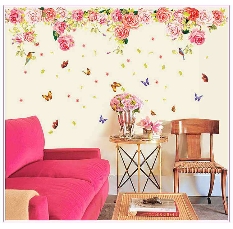 ... Flower Wall Decals Sticker. Butterfly · Butterfly