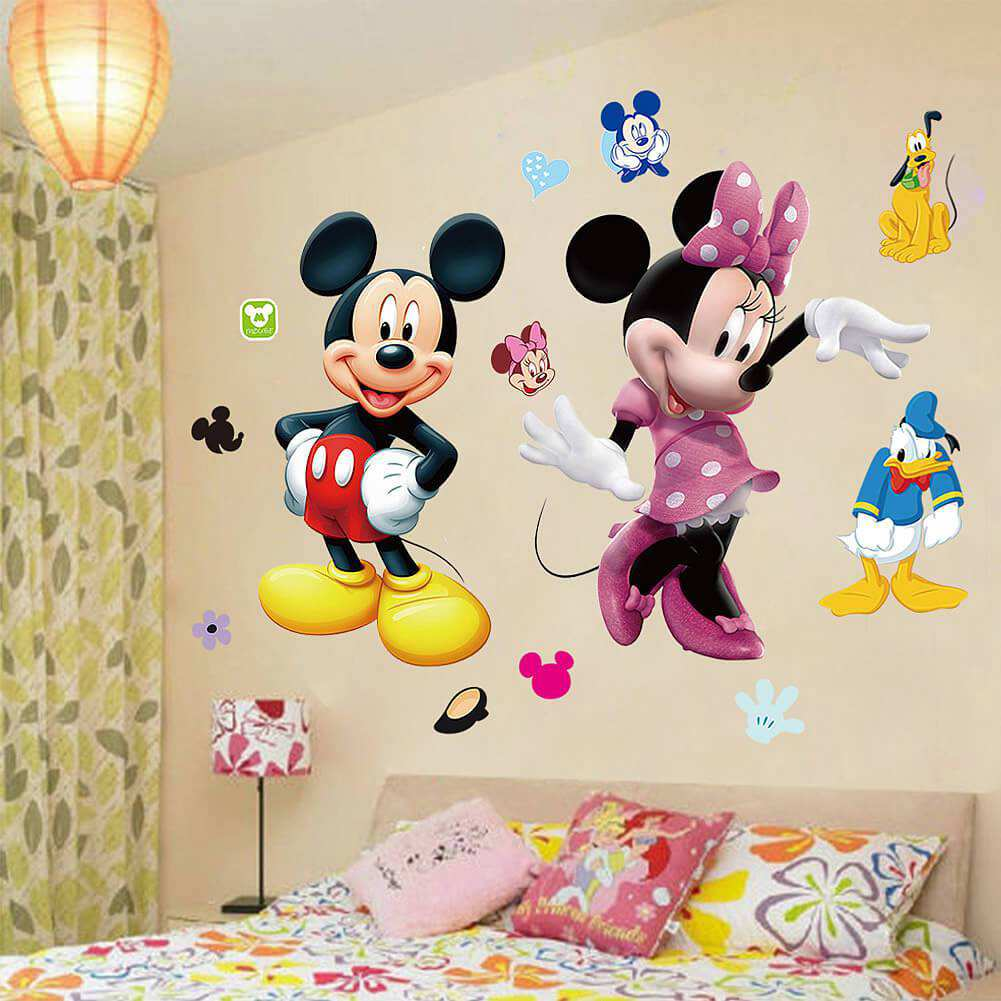 Diy mickey mouse minnie wall sticker boys room girls room mickey mouse amipublicfo Image collections
