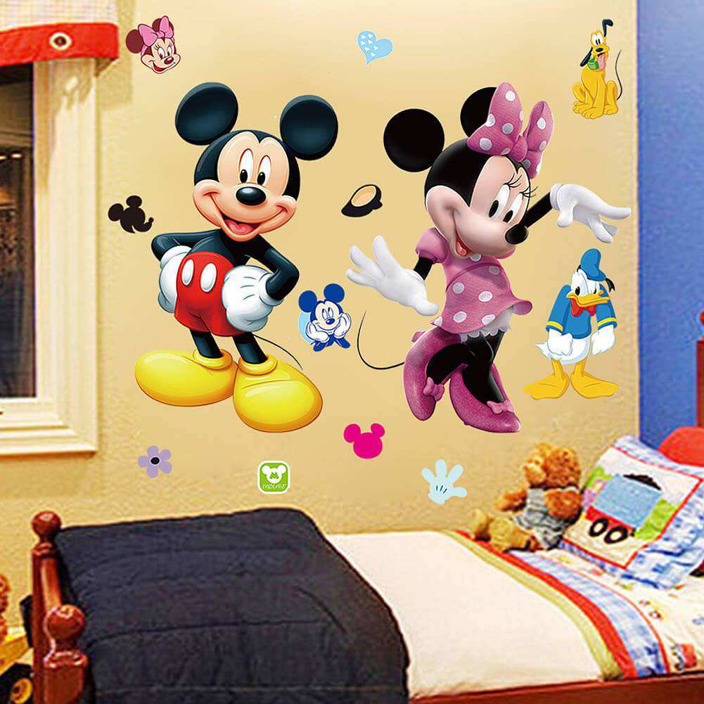 /'MINNIE MOUSE/'DISNEY WALL ART STICKER DECALBEDROOM//NURSERY