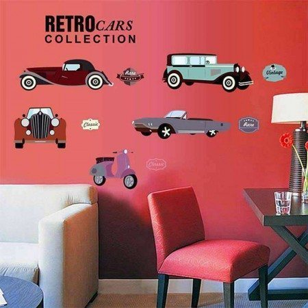 Retro Cars Decal