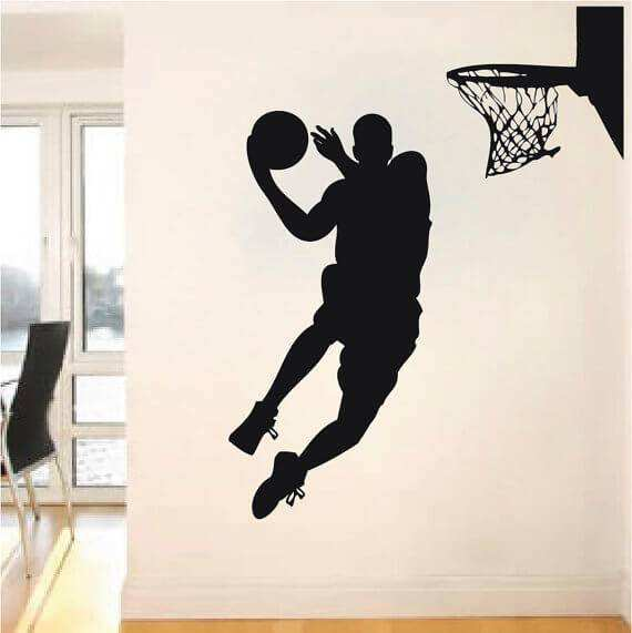 Basketball wall decals kids rooms additionally owl car window decal as