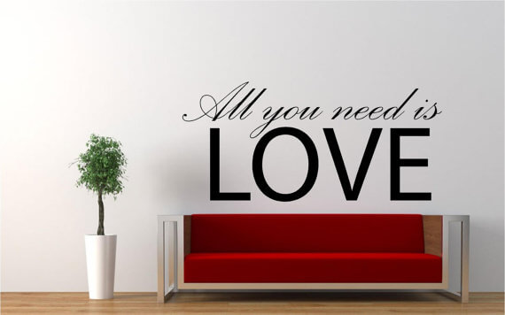 ... Love Wall Decal. ;  Part 82