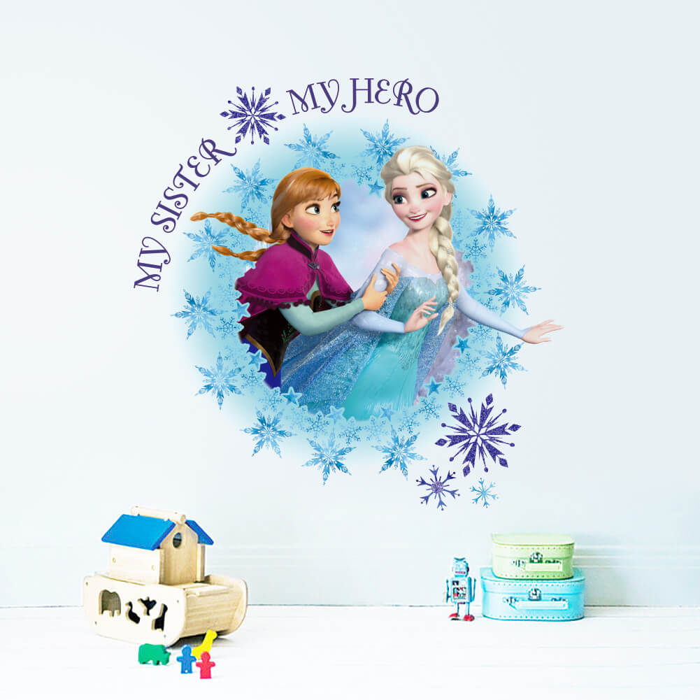 Home/Girls Room/Frozen Wall Stickers Art Decals. ; 