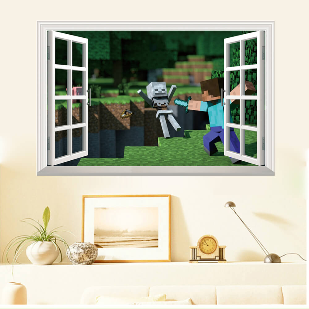 Minecraft Wall Stickers | 3D Wall Decals Ireland | Boys Room