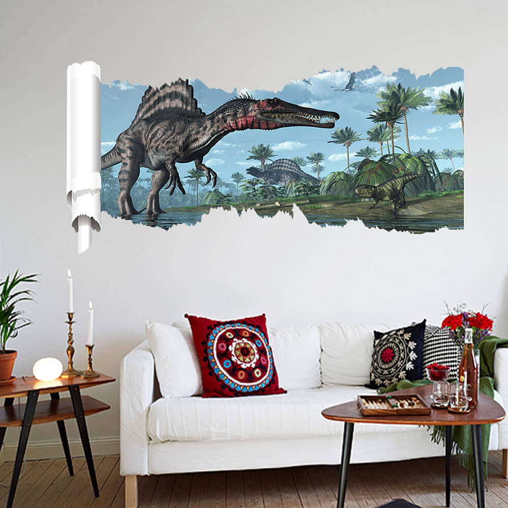 Jurrasic park 3d wall stickers decals boys room home decor dinosaurs wall stickers amipublicfo Image collections