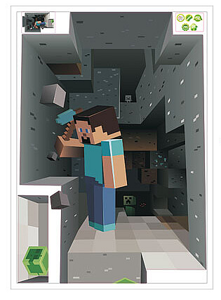 minecraft 3d wall decal sticker | boys room | wall decals
