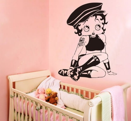 Betty Boop wall decal