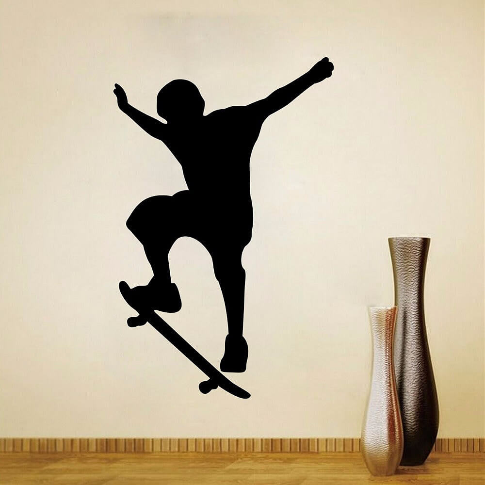 skateboard wall stickers wall decals boys room characters wall decal stickers
