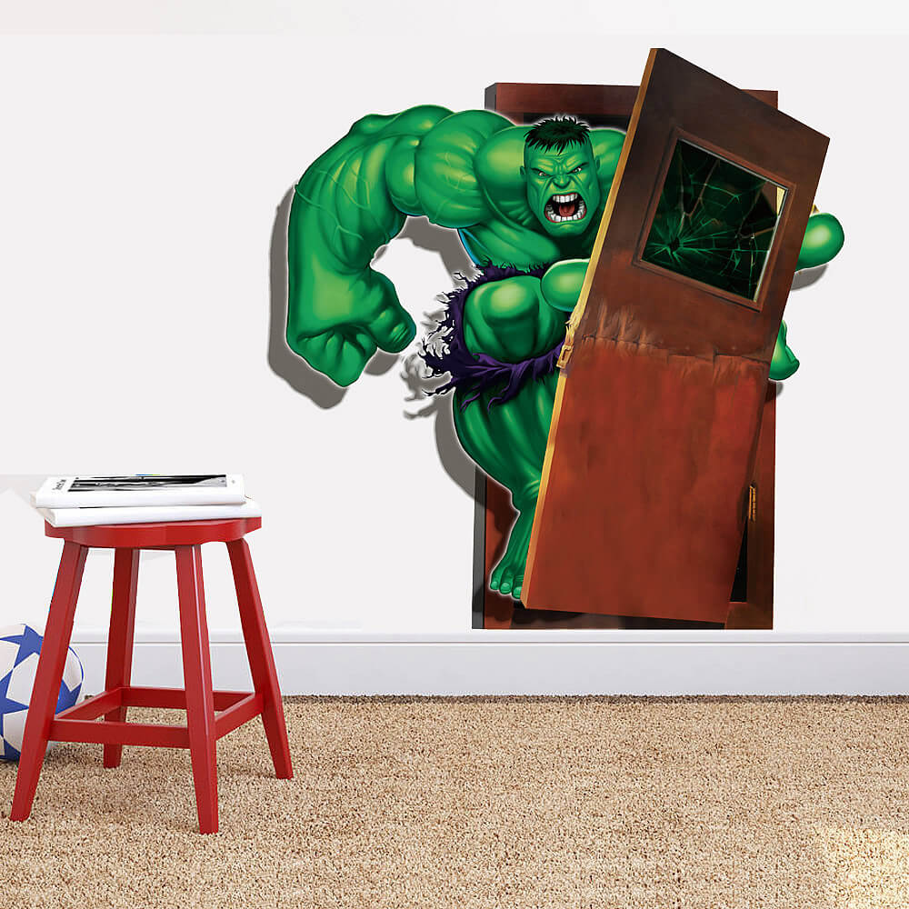 Marvel the avengers hulk wall sticker decals boys room marvel the avengers hulk wall sticker amipublicfo Image collections