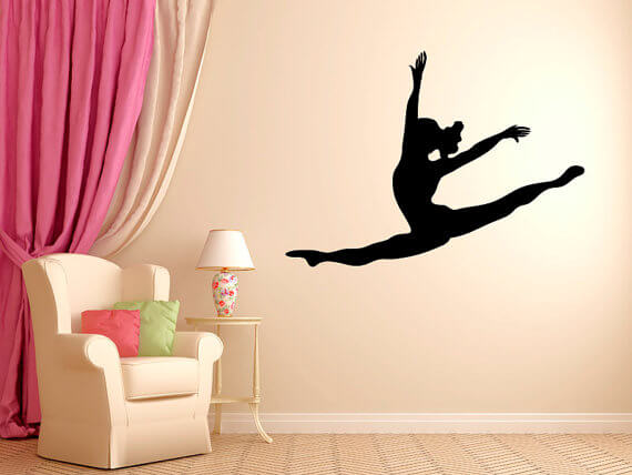 Leaping Dancer Wall Decal 5be8bc05b457