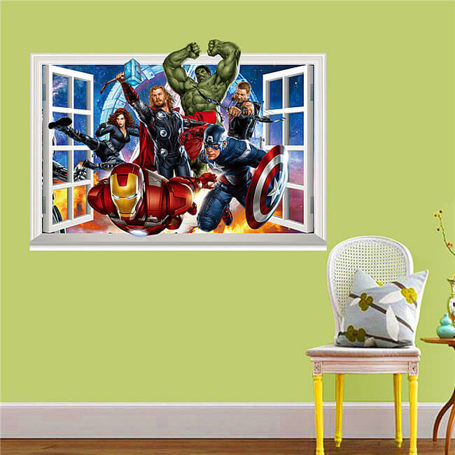 The Avengers 3d Wall Decals Amp Stickers Boys Room