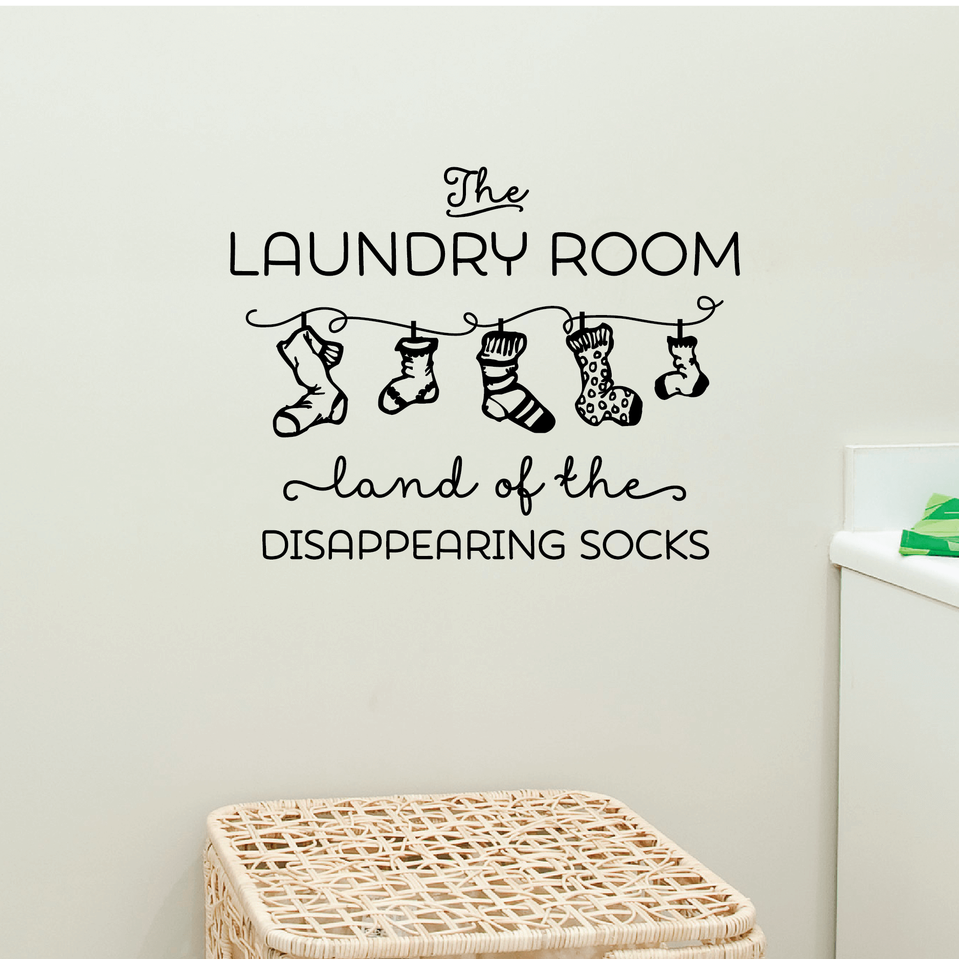 Laundry Room Wall Stickers The Laundry Room Wall Sticker Decals  Bathroom  Home Decor