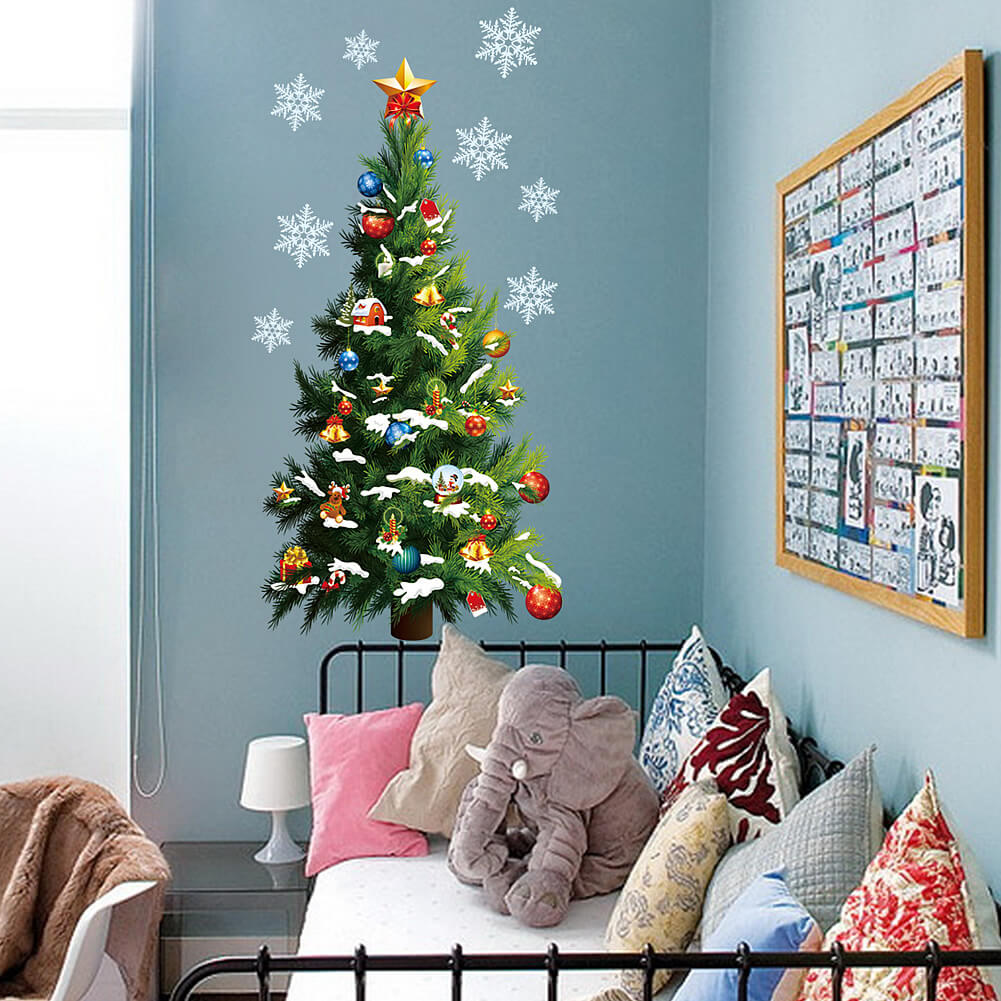 Christmas Tree Wall Art | Christmas Wall Stickers Decals