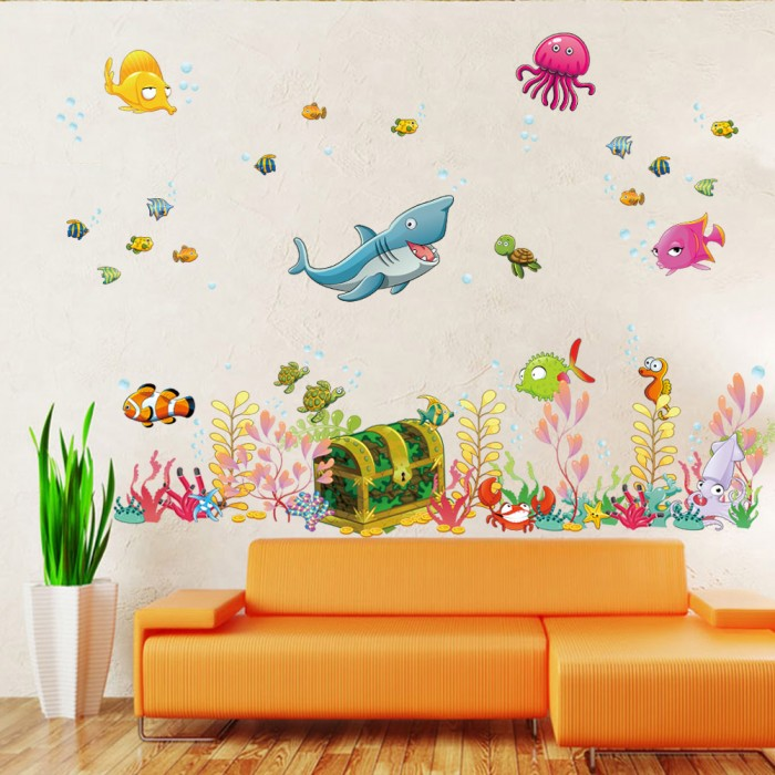 Cute Fish Wall Stickers