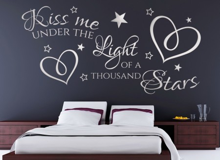 Kiss me under the light of a thousand stars wall Stickers