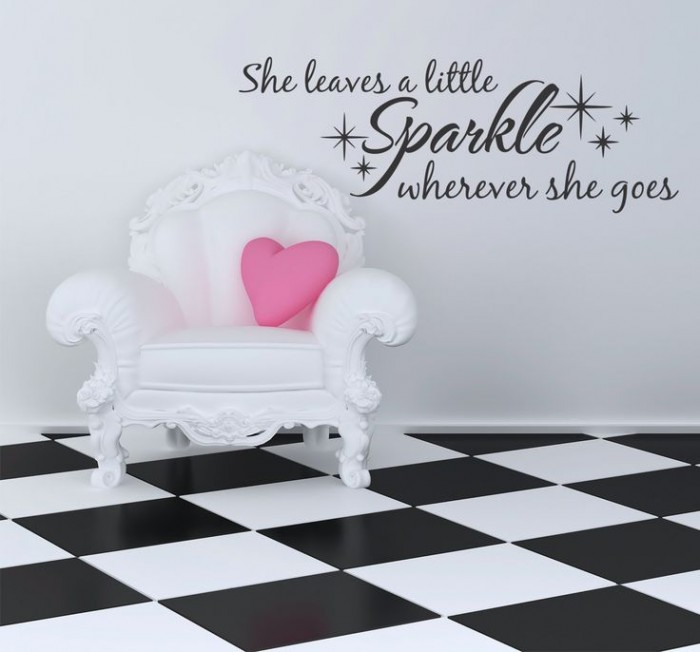 She leaves the sparkles wherever she goes wall decal