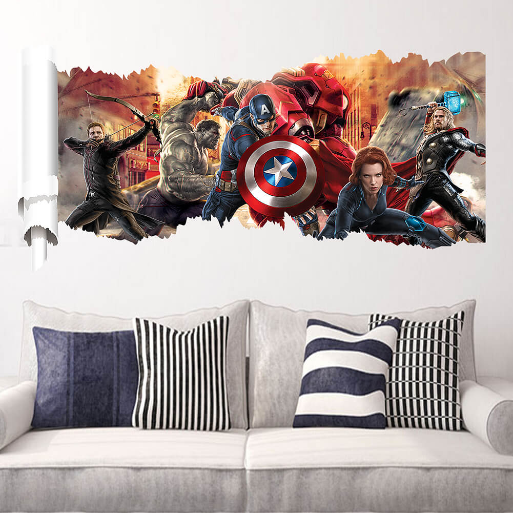 Avengers Wall Stickers | Boys Room | Wall Decals