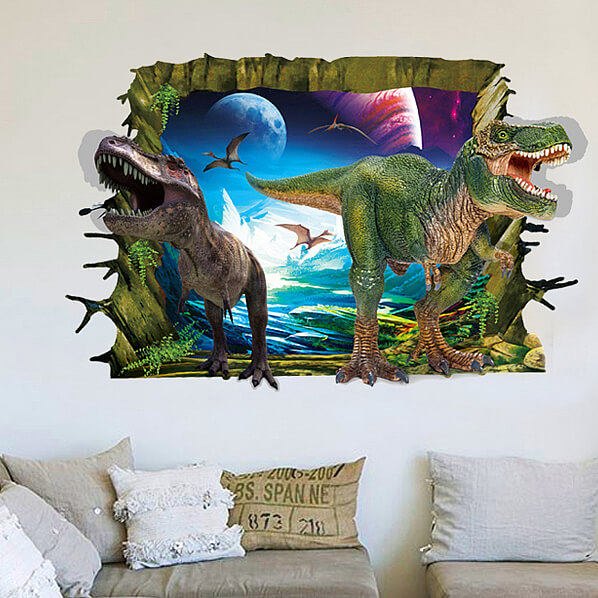 ... Boys Room/3D Dinosaurs Wall Stickers Decals. ;  Part 63