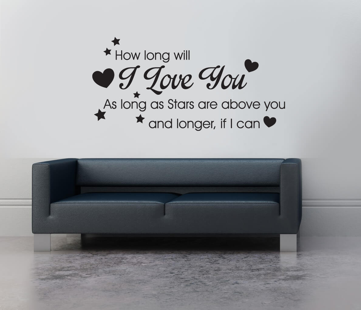 As long as stars are above you wall decals stickers