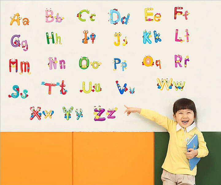 ... Alphabet Letters Wall Stickers. 2 For U20ac20. ;  Part 83