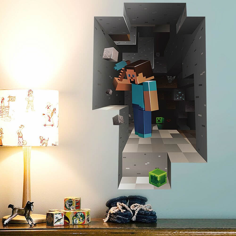 Minecraft Wall Stickers Boys Room Girls Room Wall Decals