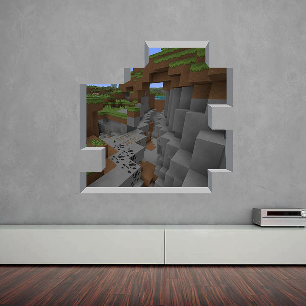 New Minecraft Wall Stickers Boys Room Wall Decals