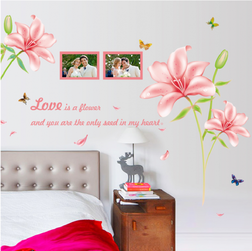 Flower Photo Frame Wall Sticker Decals