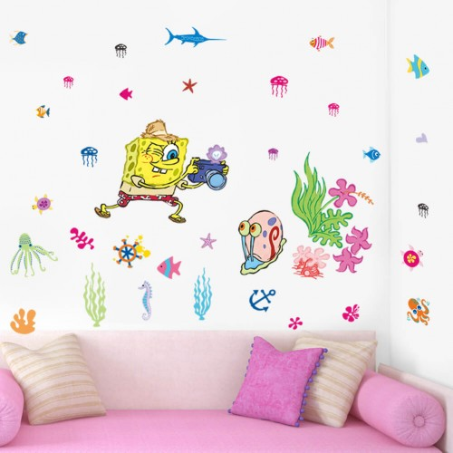 Sponge Bob Wall Decal