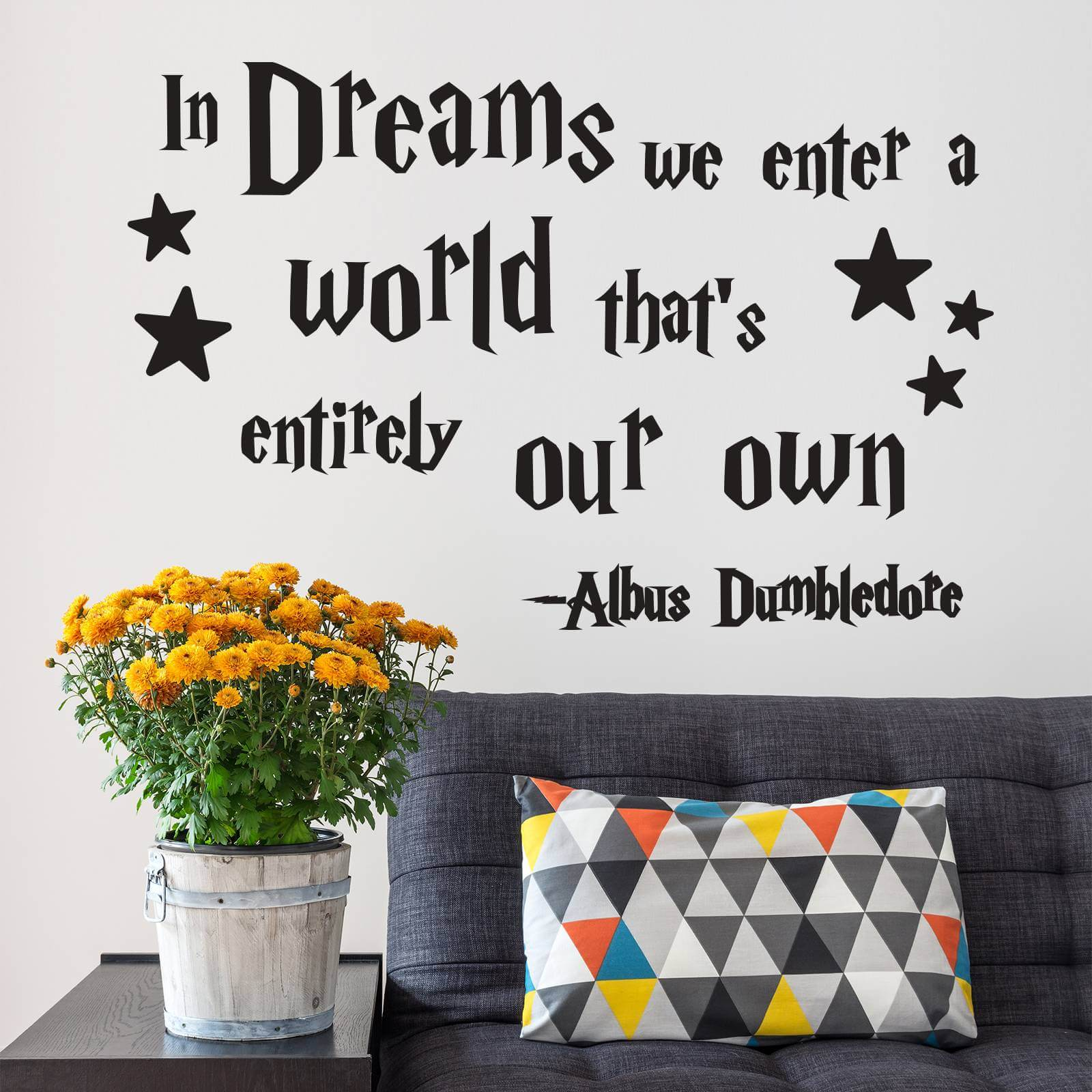 In Dreams We Enter A World Quote Wall Decals Stickers Wall Stickers