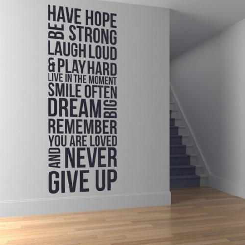 Have hope be strong quote wall decals stickers