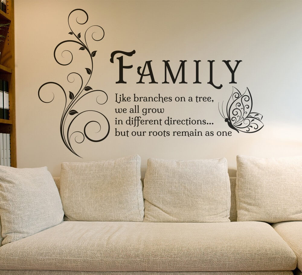 Family Like branches on tree quote wall decals stickers Wall