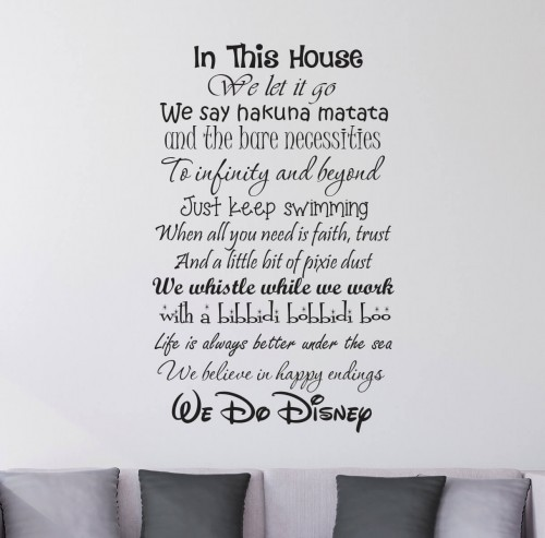 house rules wall quote stickers | quotes | lounge | wall decals