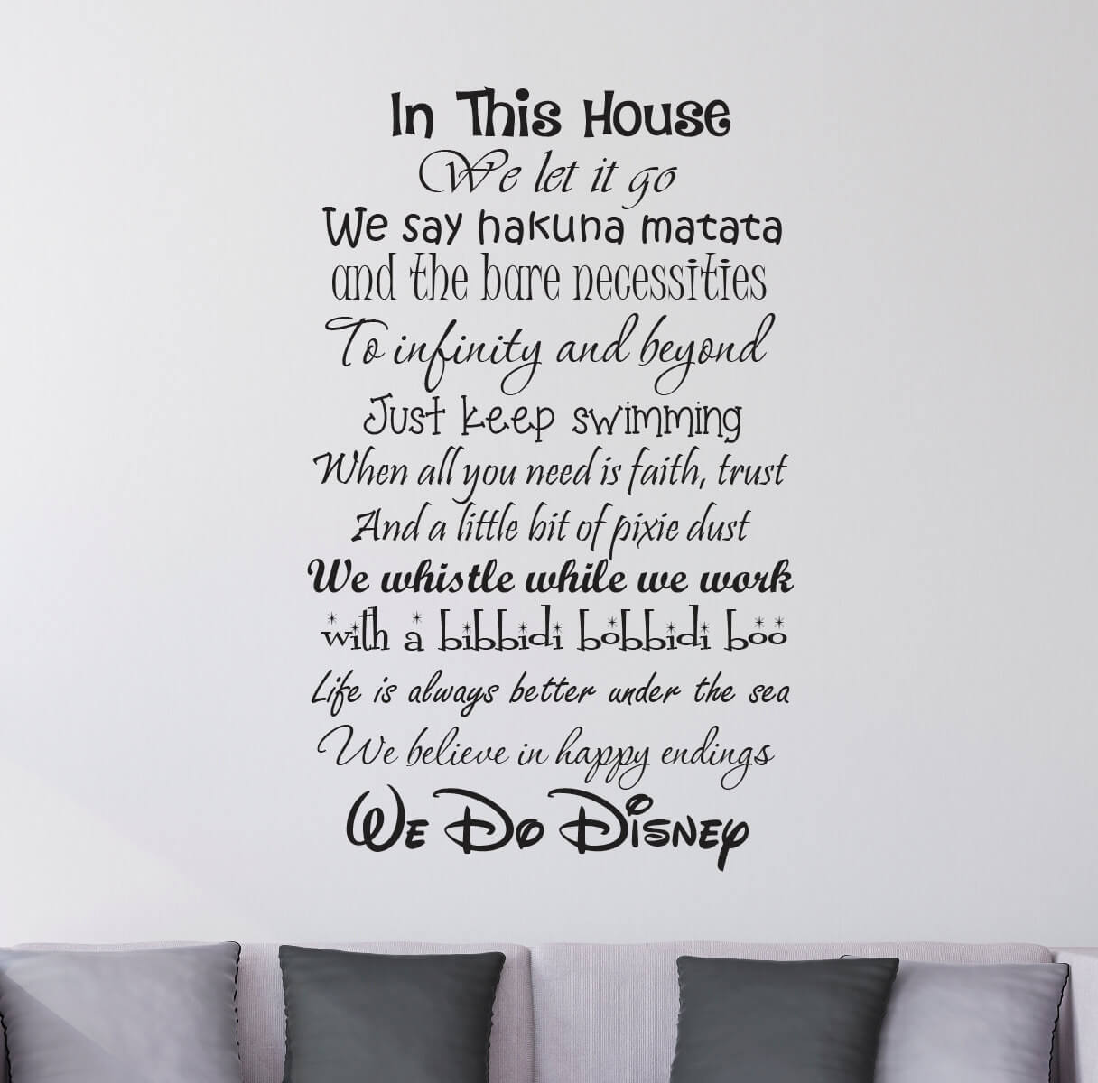 In This House We Do Disney Wall Stickers Decals Part 67